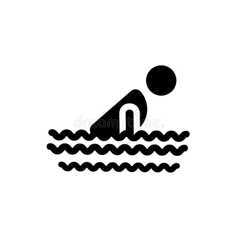κολυμπώντας εικονίδιο προσώπων  απεικόνιση αποθεμάτων