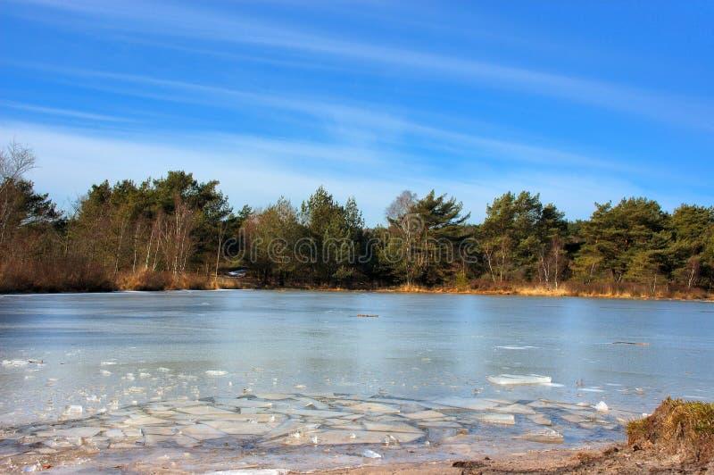 κολόνες πάγου στοκ εικόνα
