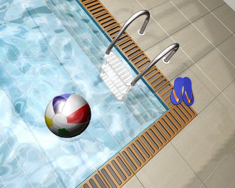 κολύμβηση λιμνών διανυσματική απεικόνιση
