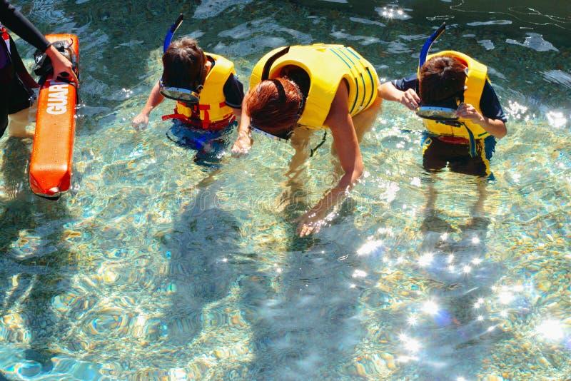 κολύμβηση με αναπνευστήρα μαθήματος στοκ εικόνες με δικαίωμα ελεύθερης χρήσης