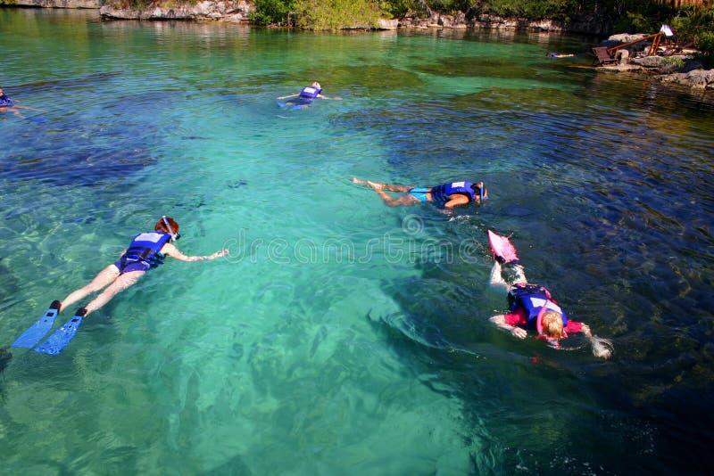 κολύμβηση με αναπνευστήρ& στοκ εικόνες με δικαίωμα ελεύθερης χρήσης