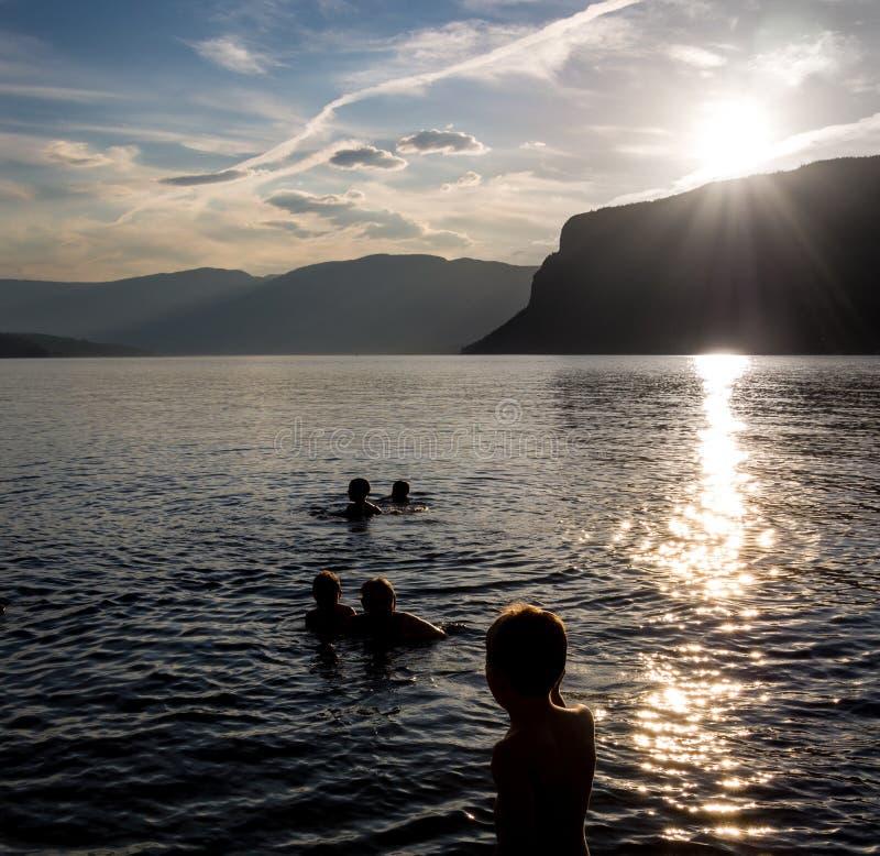 Κολύμβηση νύχτας στοκ φωτογραφία με δικαίωμα ελεύθερης χρήσης