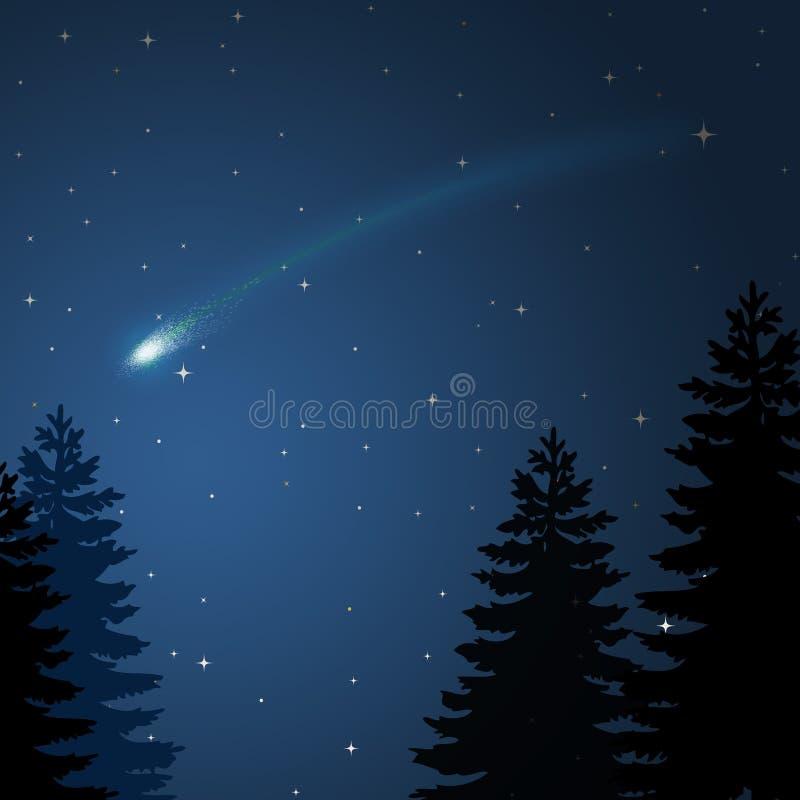 κομήτης Χριστουγέννων διανυσματική απεικόνιση