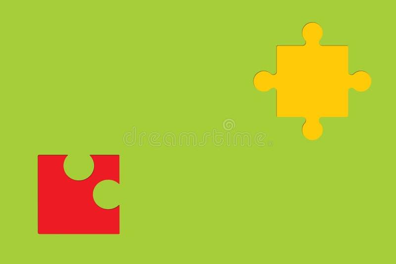 Κομμάτια γρίφων στο ζωηρόχρωμο υπόβαθρο ως σύμβολο του αυτισμού στοκ φωτογραφία