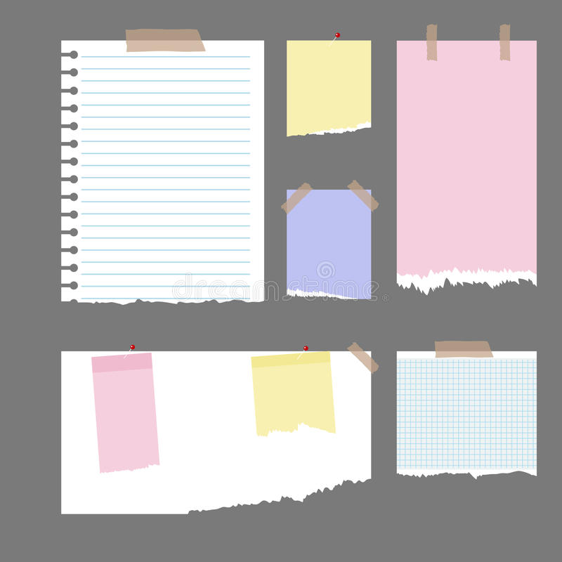 κομμάτια εγγράφου που σχίζονται διανυσματική απεικόνιση