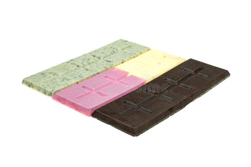 Κομμάτια και φραγμός σοκολάτας στοκ φωτογραφία με δικαίωμα ελεύθερης χρήσης