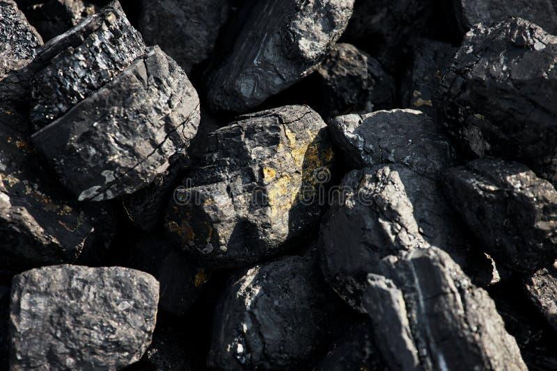 Κομμάτια μεγάλου άνθρακα στοκ εικόνες