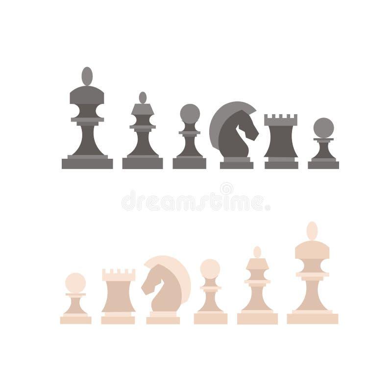 κομμάτια σκακιού που τίθ&epsi διάνυσμα διανυσματική απεικόνιση