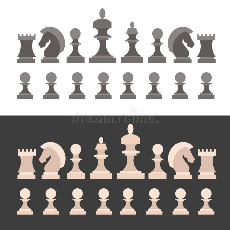 κομμάτια σκακιού που τίθ&epsi διάνυσμα απεικόνιση αποθεμάτων