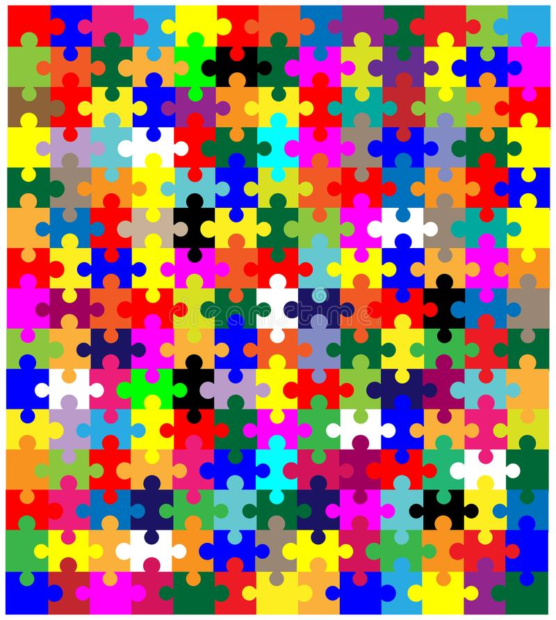 Κομμάτια τορνευτικών πριονιών στο χρώμα ως πολυ υπόβαθρο χρώματος διανυσματική απεικόνιση