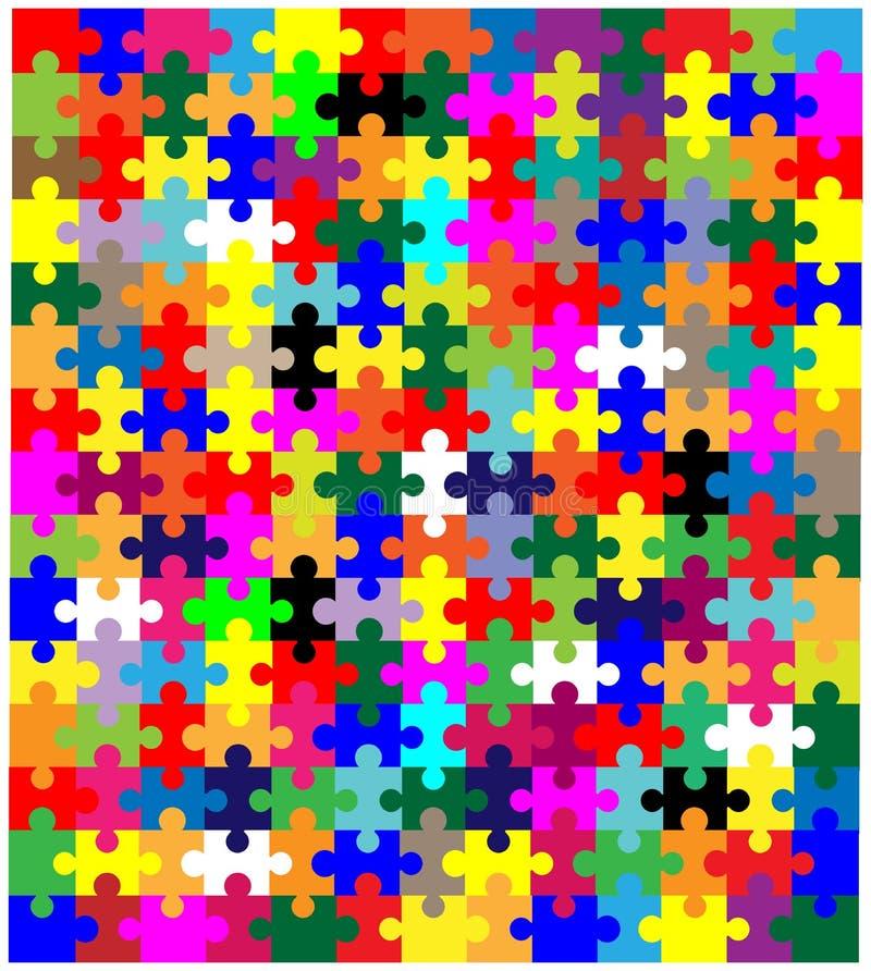 Κομμάτια τορνευτικών πριονιών στο χρώμα απεικόνιση αποθεμάτων