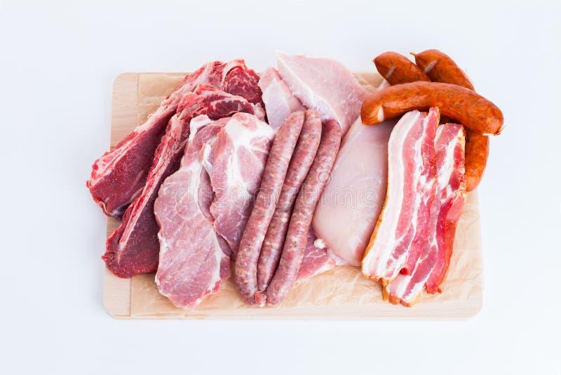 Κομμάτια του διαφορετικού φρέσκου κρέατος στοκ φωτογραφία με δικαίωμα ελεύθερης χρήσης