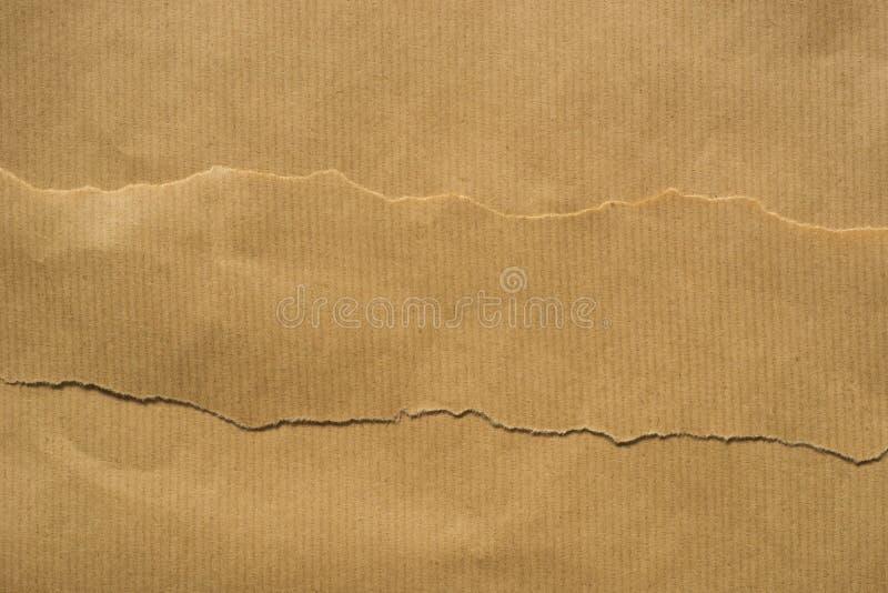 Κομμάτια του καφετιού χαρτί στοκ εικόνες