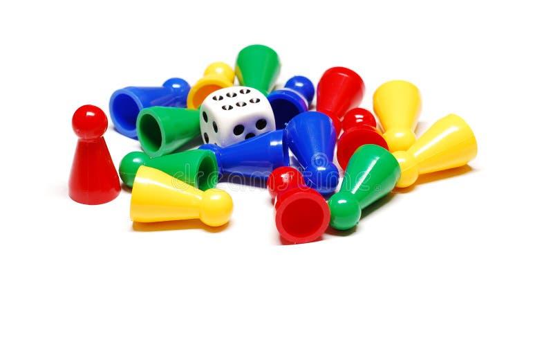 κομμάτια τυχερού παιχνιδ&io στοκ φωτογραφία με δικαίωμα ελεύθερης χρήσης
