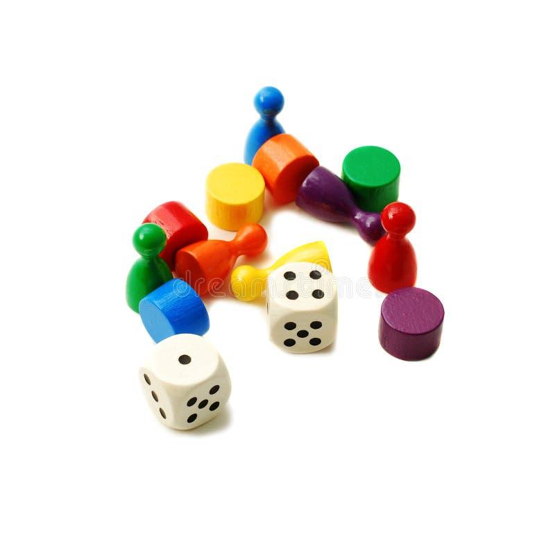 κομμάτια τυχερού παιχνιδ&io στοκ εικόνες με δικαίωμα ελεύθερης χρήσης