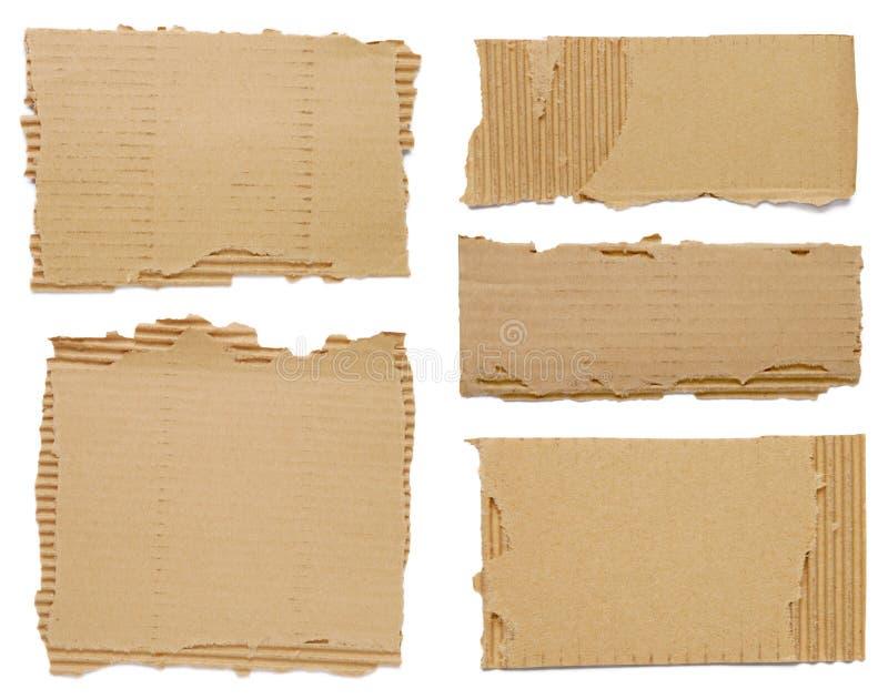κομμάτια χαρτονιού στοκ φωτογραφία