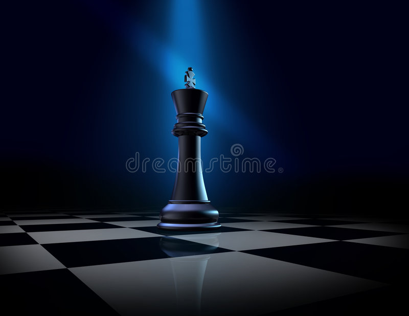 κομμάτι βασιλιάδων σκακιού διανυσματική απεικόνιση