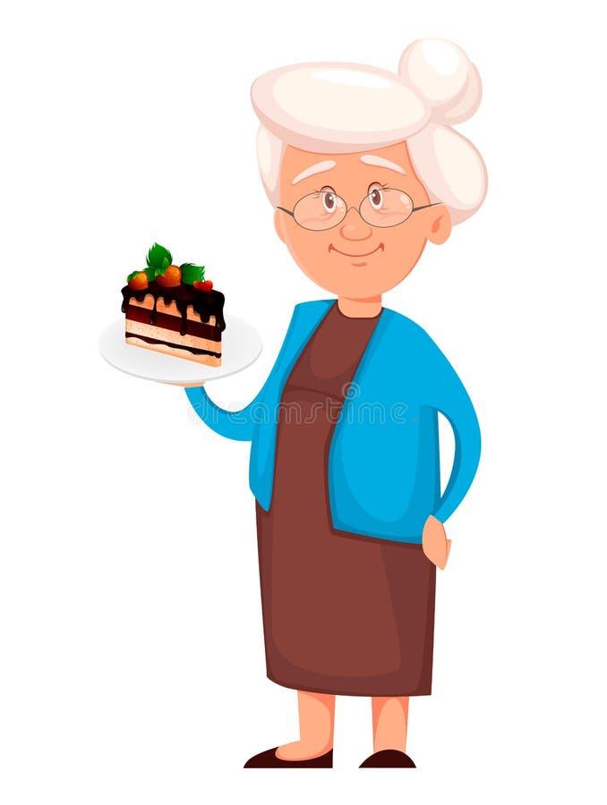 Κομμάτι εκμετάλλευσης γιαγιάδων του κέικ ελεύθερη απεικόνιση δικαιώματος