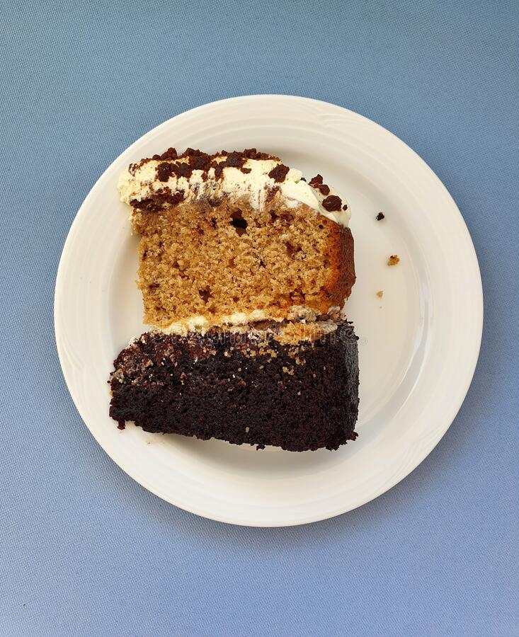 Κομμάτι κέικ σοκολάτας και καπουτσίνο στοκ εικόνα με δικαίωμα ελεύθερης χρήσης
