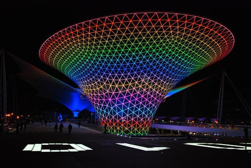 κομμάτι Σαγγάη νύχτας EXPO το&upsilon στοκ εικόνα με δικαίωμα ελεύθερης χρήσης