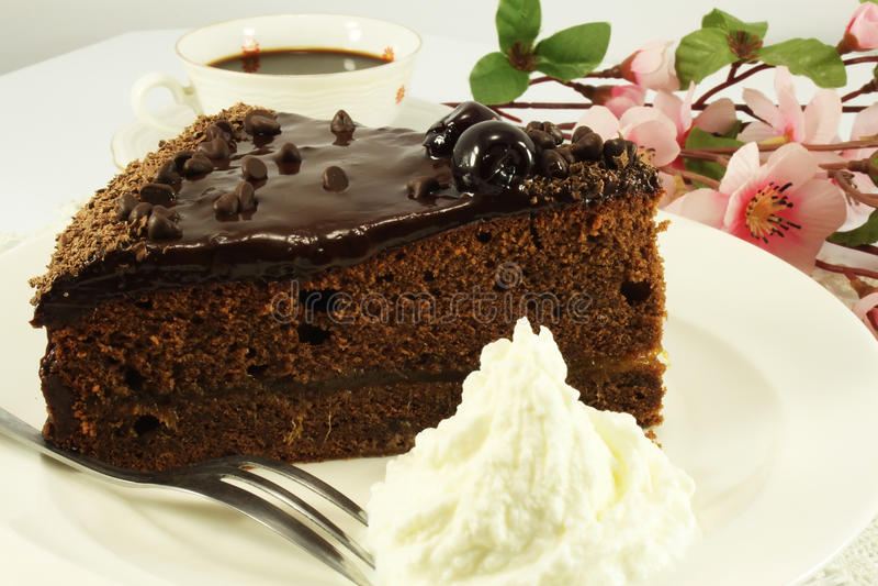 κομμάτι σοκολάτας κέικ στοκ εικόνα