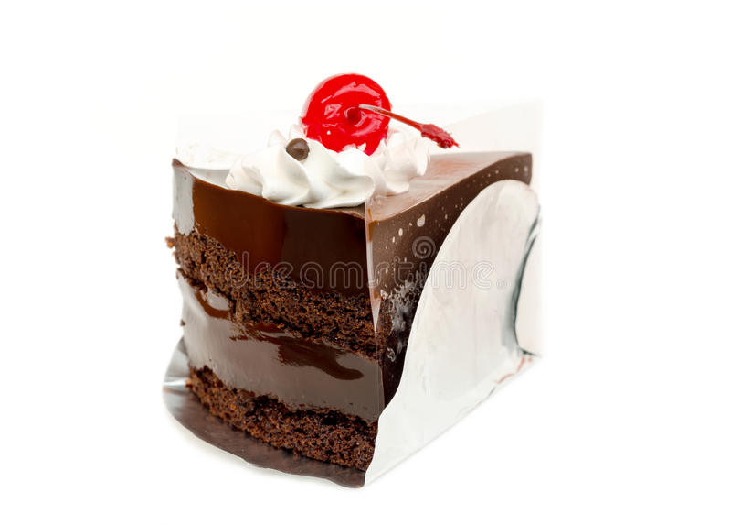 Κομμάτι του κέικ και του κερασιού σοκολάτας στοκ φωτογραφία με δικαίωμα ελεύθερης χρήσης
