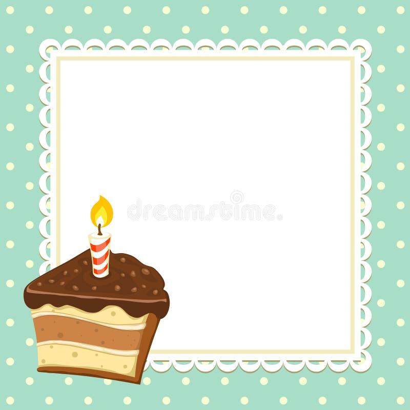 Κομμάτι του κέικ διανυσματική απεικόνιση