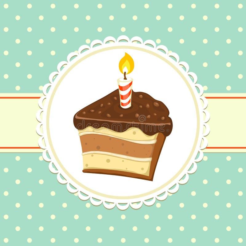 Κομμάτι του κέικ ελεύθερη απεικόνιση δικαιώματος