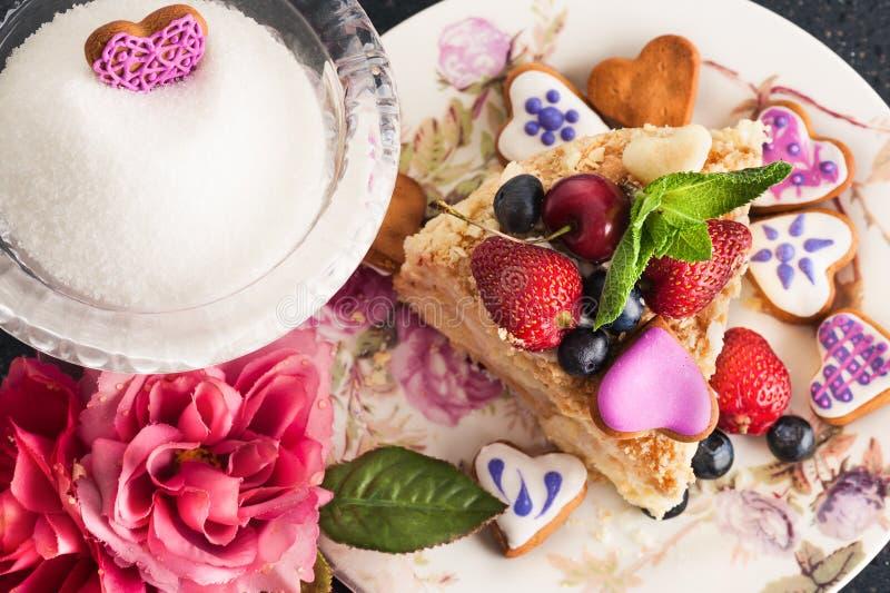 Κομμάτι του κέικ napoleon στοκ φωτογραφίες με δικαίωμα ελεύθερης χρήσης