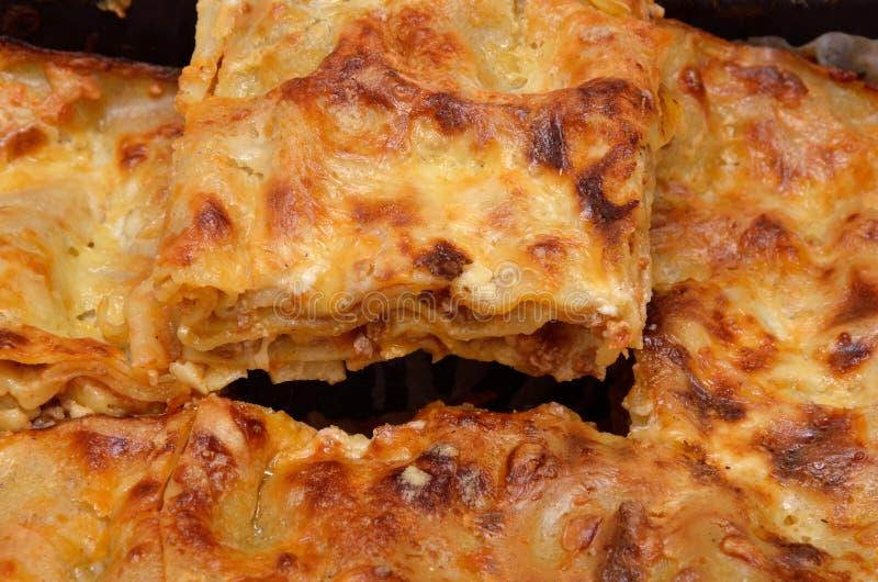 Κομμάτι του juicy lasagna στοκ φωτογραφία