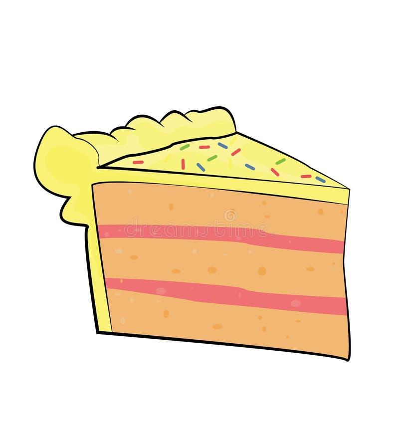 Κομμάτι των κινούμενων σχεδίων κέικ διανυσματική απεικόνιση