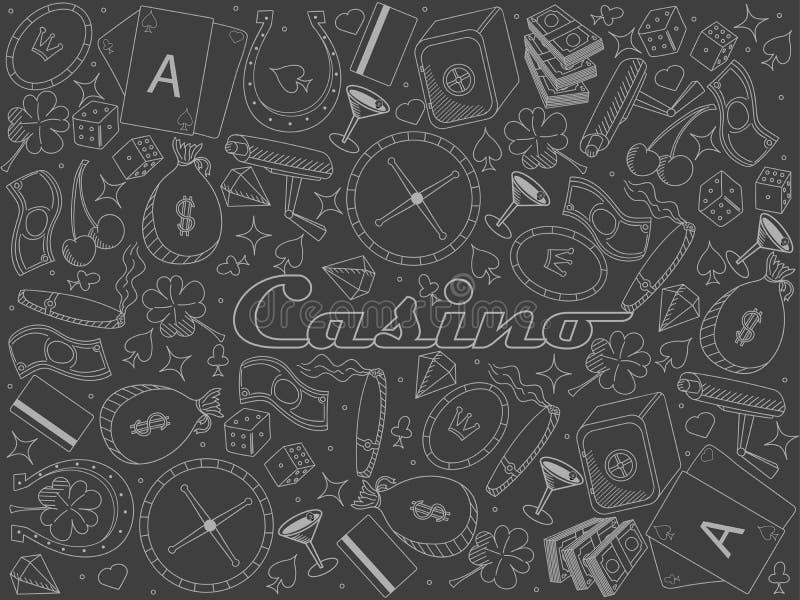 Κομμάτι χαρτοπαικτικών λεσχών της απεικόνισης ράστερ σχεδίου τέχνης γραμμών κιμωλίας απεικόνιση αποθεμάτων