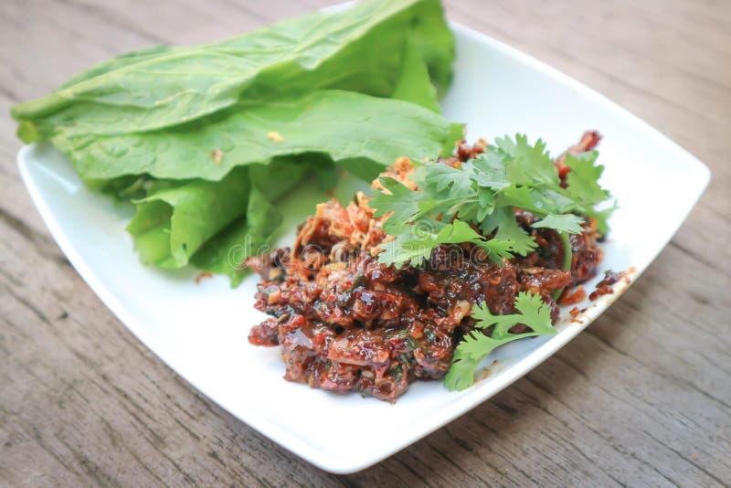 Κομματιασμένος σαλάτα ψαριών ή κιμάς στοκ εικόνες