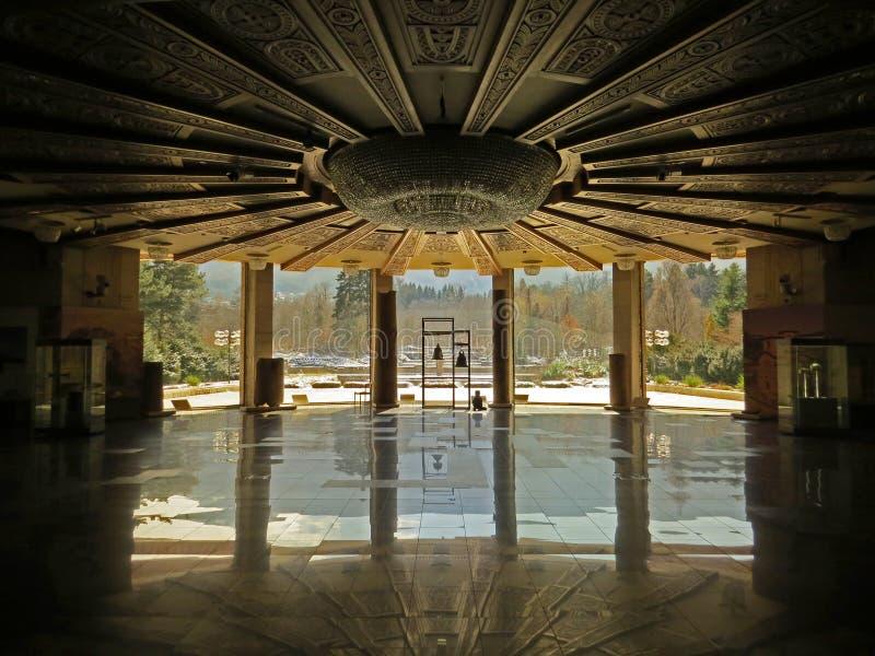 Κομμουνιστική κατοικία Προέδρου περιόδου Ολοκληρωτική αρχιτεκτονική στοκ φωτογραφία με δικαίωμα ελεύθερης χρήσης
