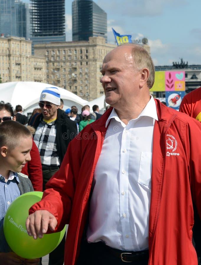 Κομμουνιστικός ηγέτης Gennady Zyuganov κόμματος στο φεστιβάλ Τύπου στη Μόσχα στοκ φωτογραφία με δικαίωμα ελεύθερης χρήσης
