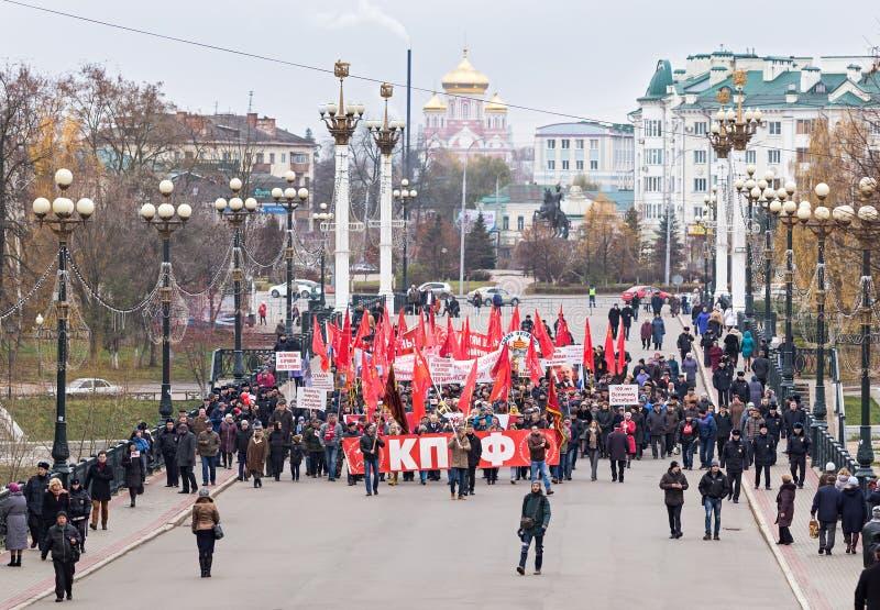 Κομμουνιστικός τον Μάρτιος του 100y στοκ εικόνες με δικαίωμα ελεύθερης χρήσης
