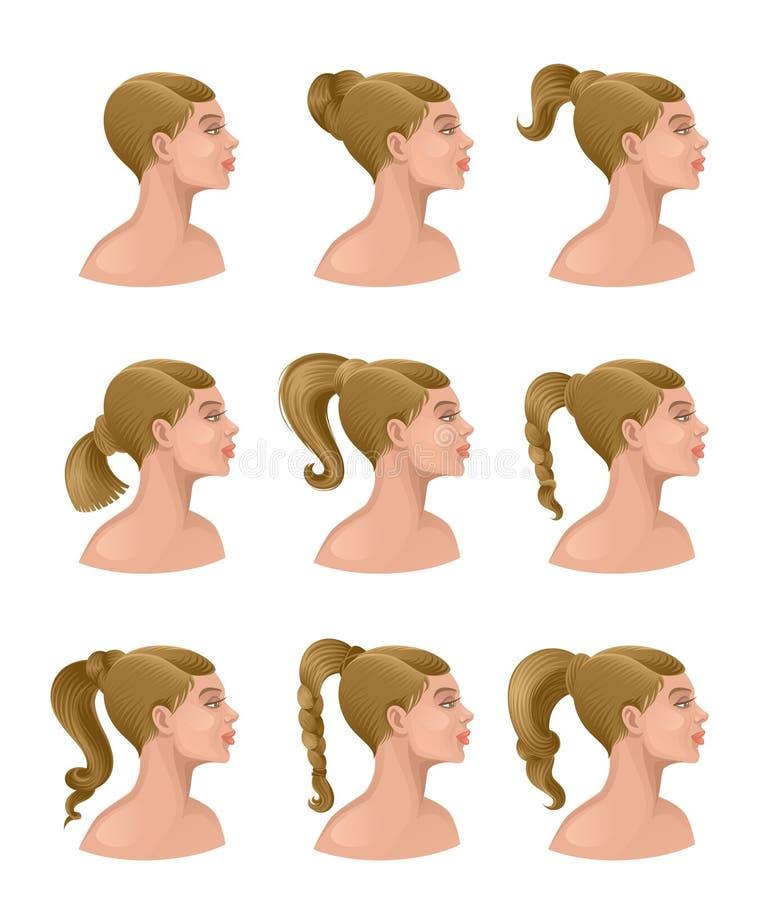 Κομμωτήριο γυναικών διανυσματική απεικόνιση
