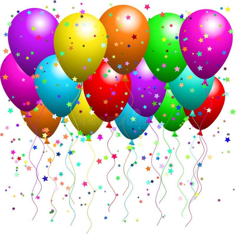 κομφετί μπαλονιών ελεύθερη απεικόνιση δικαιώματος