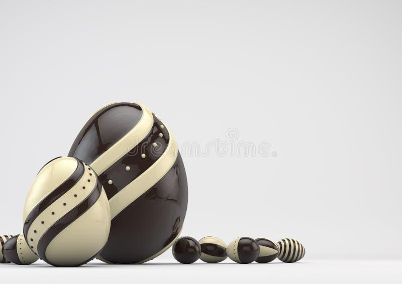 Κομψά αυγά Πάσχας σοκολάτας στοκ εικόνες