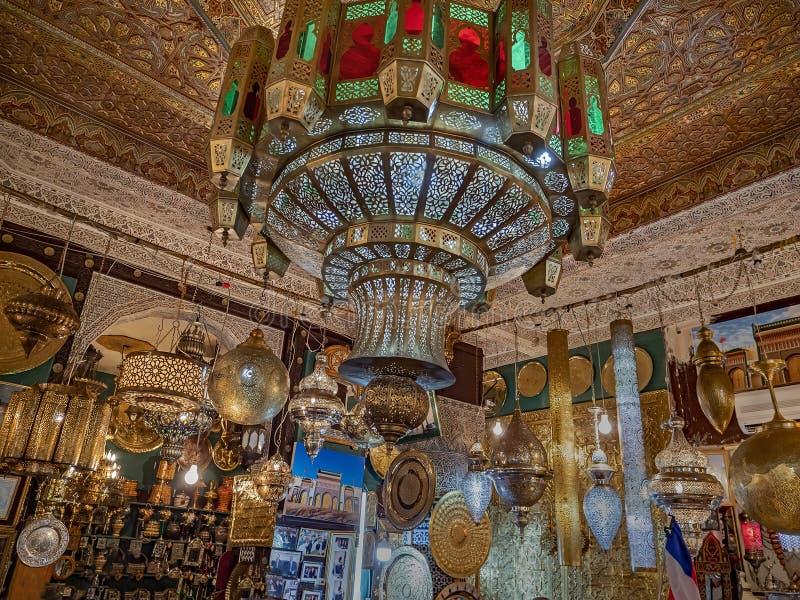 Κομψά καταστήματα του Fez στοκ φωτογραφία με δικαίωμα ελεύθερης χρήσης