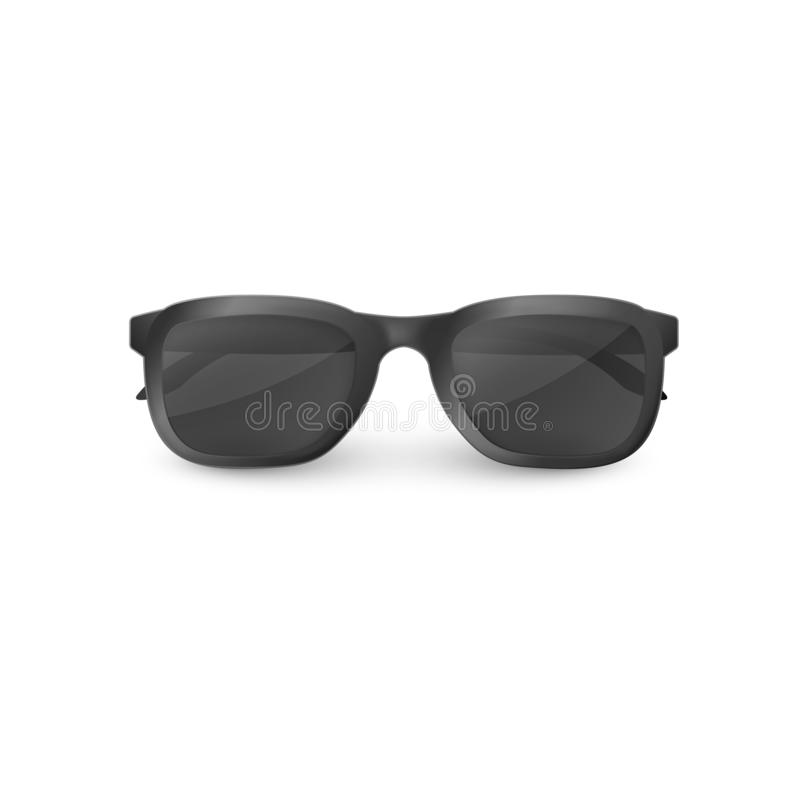 Κομψά μαύρα γυαλιά ηλίου με τα σαφή γυαλιά r διανυσματική απεικόνιση