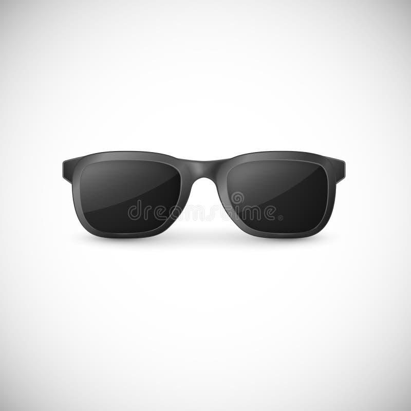 Κομψά μαύρα γυαλιά ηλίου r διανυσματική απεικόνιση