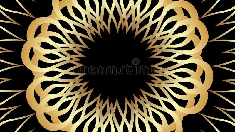 Κομψά χρυσά σχέδια στο μαύρο υπόβαθρο Πολυτελές εκλεκτής ποιότητας μοτίβο ελεύθερη απεικόνιση δικαιώματος