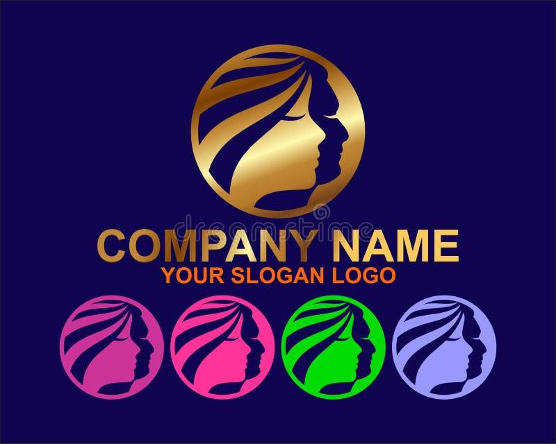 κομψή έννοια λογότυπων SPA στοκ εικόνα