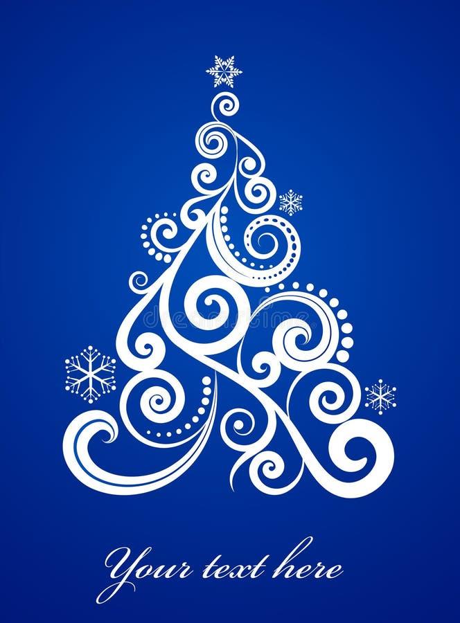 Κομψή ανασκόπηση Χριστουγέννων διανυσματική απεικόνιση
