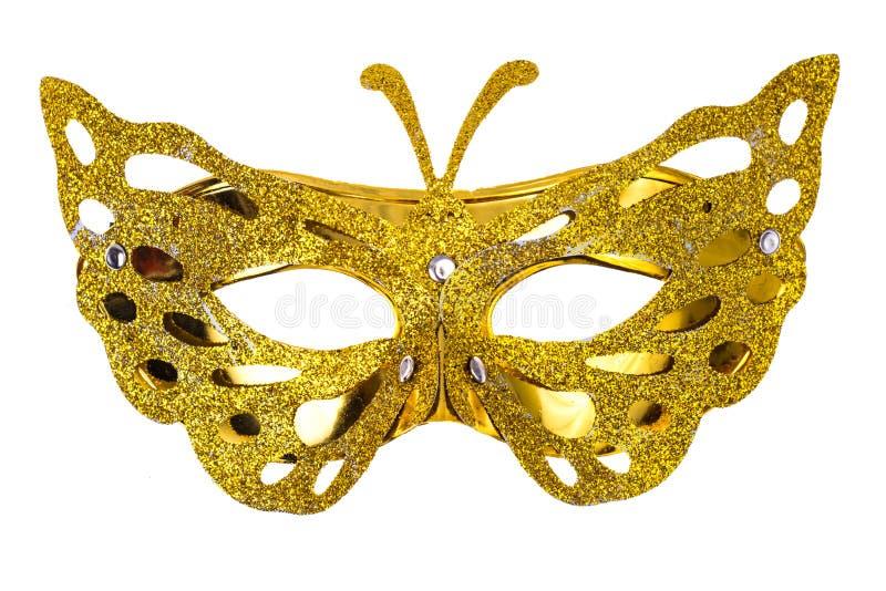 Κομψή μάσκα καρναβαλιού για το φεστιβάλ της Mardi Gras, που απομονώνεται στο άσπρο υπόβαθρο στοκ φωτογραφία