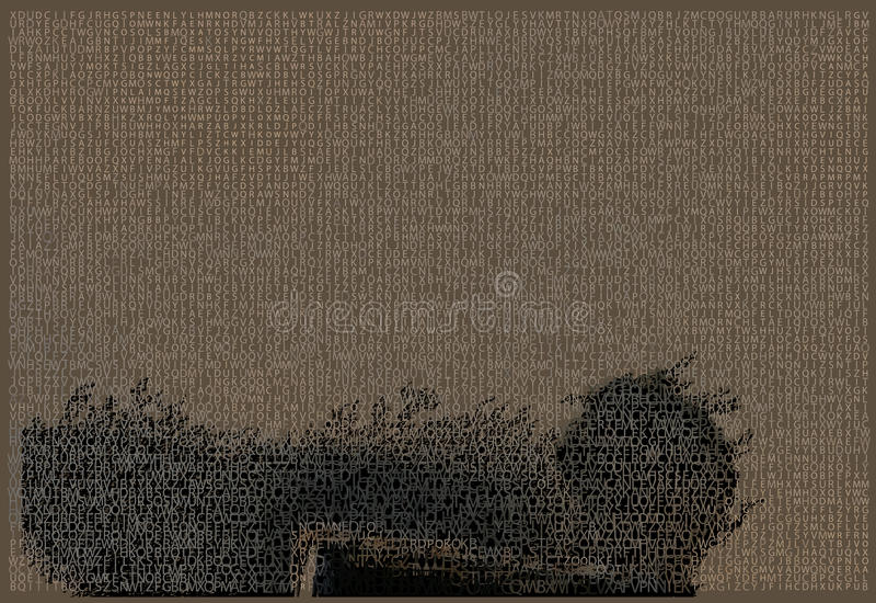 κομψή σύσταση τύπων χαρακτή&rh απεικόνιση αποθεμάτων