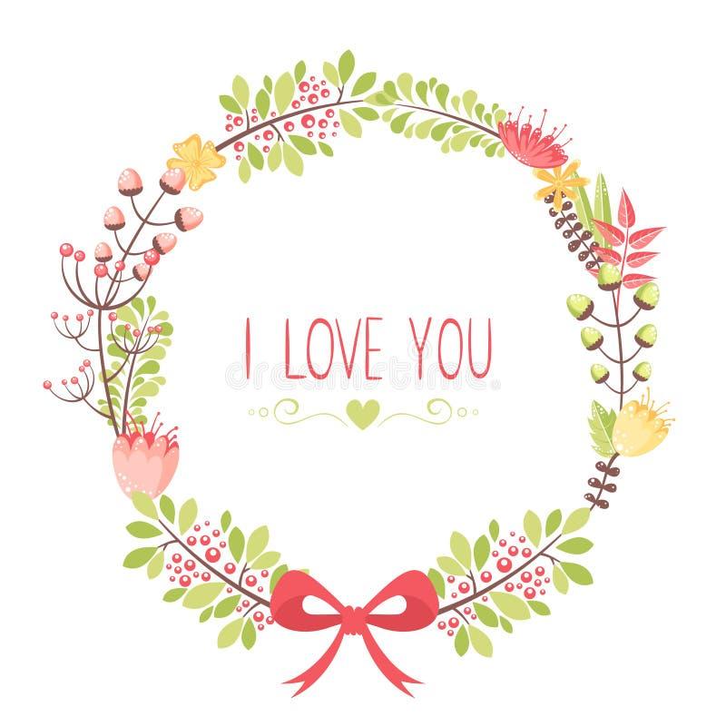 Κομψή floral κάρτα συγχαρητηρίων ελεύθερη απεικόνιση δικαιώματος