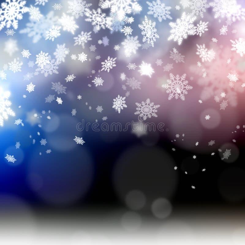 Κομψή snowflakes υποβάθρου Χριστουγέννων απεικόνιση απεικόνιση αποθεμάτων