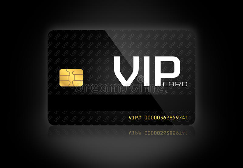Κομψή VIP κάρτα στοκ φωτογραφίες